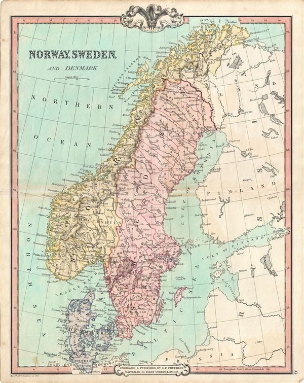 Norway Sweden And Denmark Geographicus Rare Antique Maps - Norway denmark map