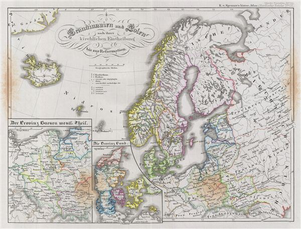 Scandinavien und Polen nach ihrer kirchlichen Eintheilung bis zur Reformation.