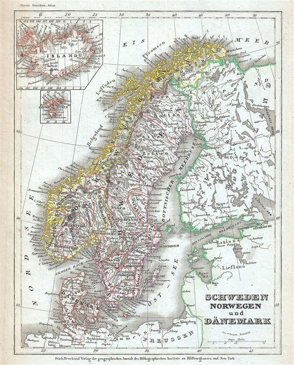 Schweden Norwegen und Danemark.