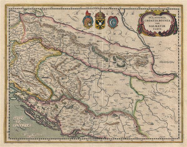 Sclovonia Croatia Bosnia cum Dalmatiae Parte.