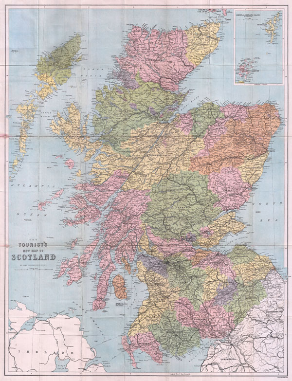 The Tourist's New Map of Scotland - Main View