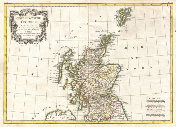 Carte du Royaume D'Ecosse. - Main View
