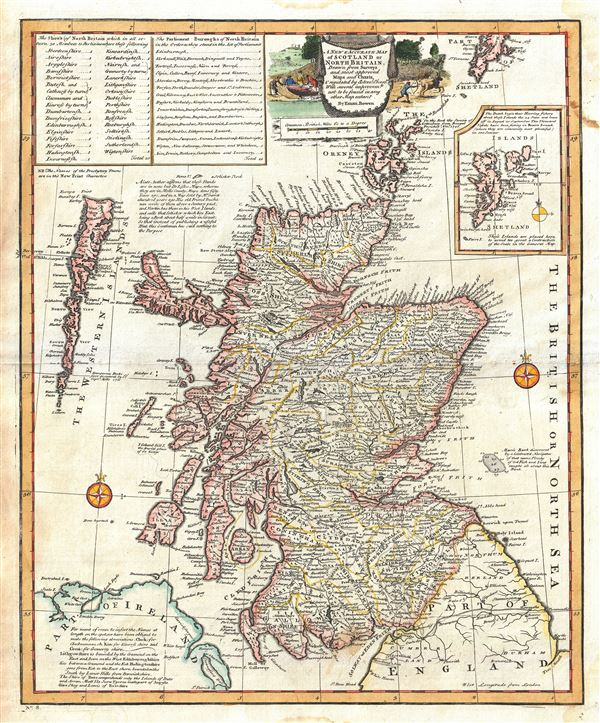 A New and Accurate Map of Scotland or North Britain.