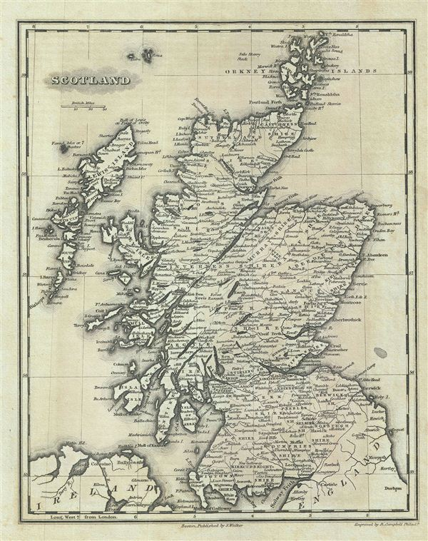 Scotland : Geographicus Rare Antique Maps