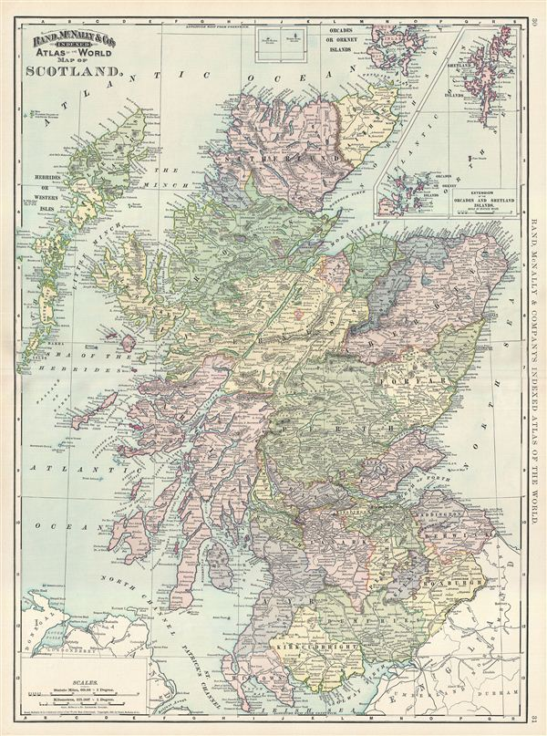 Map of Scotland. - Main View