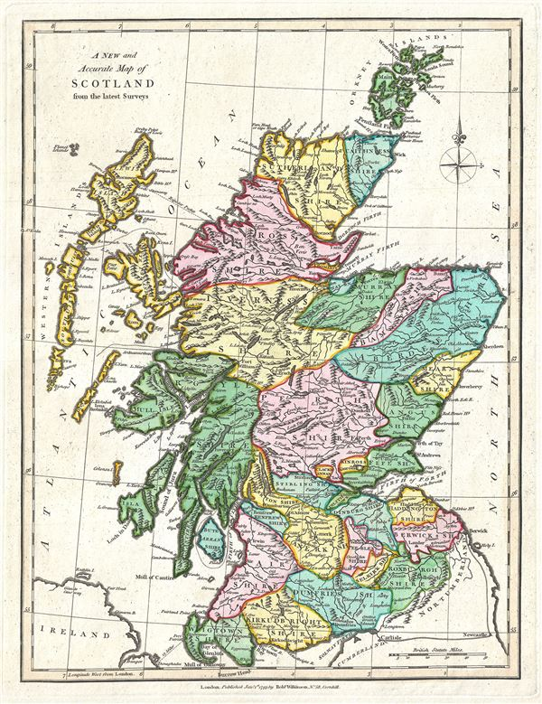 A New and Accurate Map of Scotland from the latest Surveys.