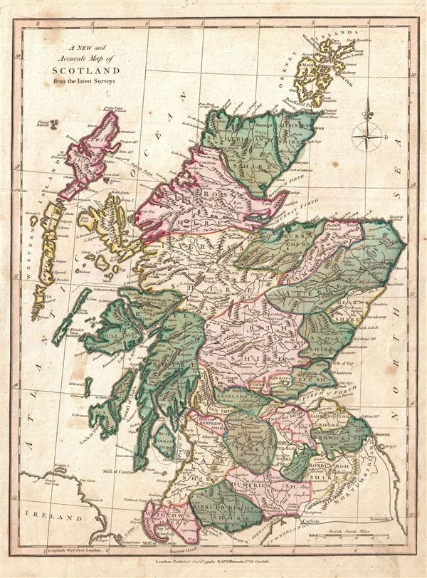 A New and Accurate Map of Scotland from the latest Surveys. - Main View