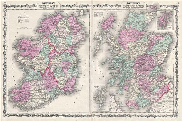Johnson's Ireland.  Johnson's Scotland. - Main View