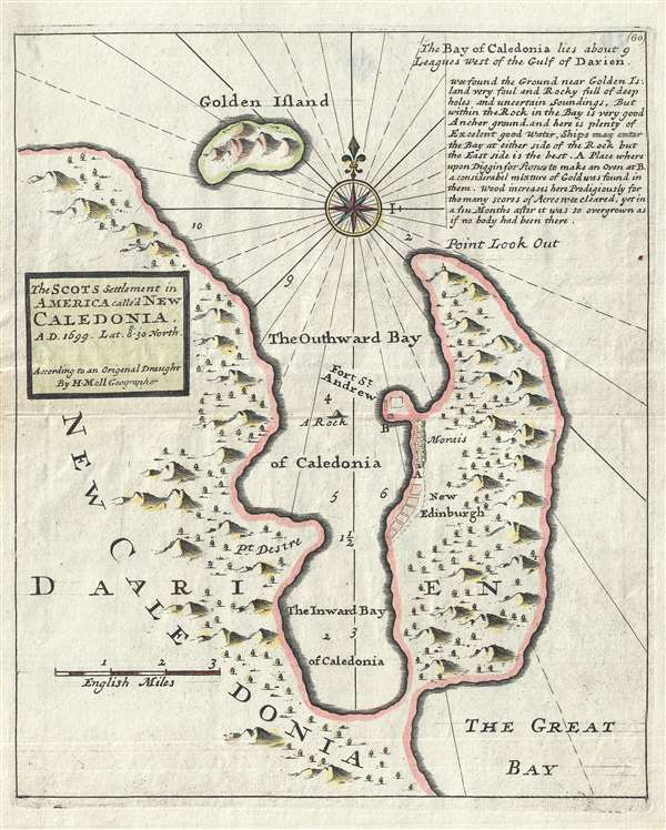 The Scots settlement in America called New Caledonia, A.D. 1699. Lat. 8°-30ʹ north. - Main View