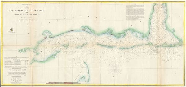 Preliminary Chart No. 26 of the Sea Coast of the United States from Mobile Bay Ala. to Lake Bogue LA. - Main View