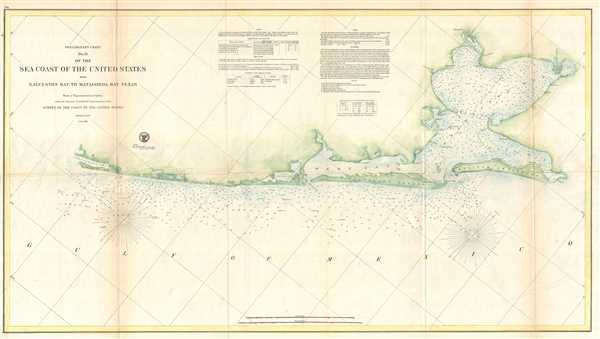 Preliminary Chart No. 31 of the Sea Coast of the United States from Galveston Bay to Matagorda Bay Texas.