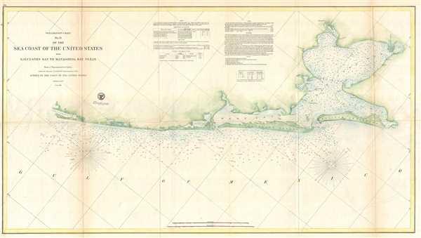 Preliminary Chart No. 31 of the Sea Coast of the United States from Galveston Bay to Matagorda Bay Texas. - Main View