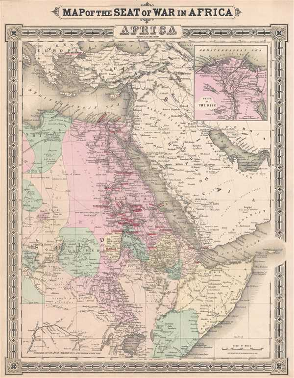 Map of the Seat of War in Africa. Africa North Eastern Sheet. - Main View