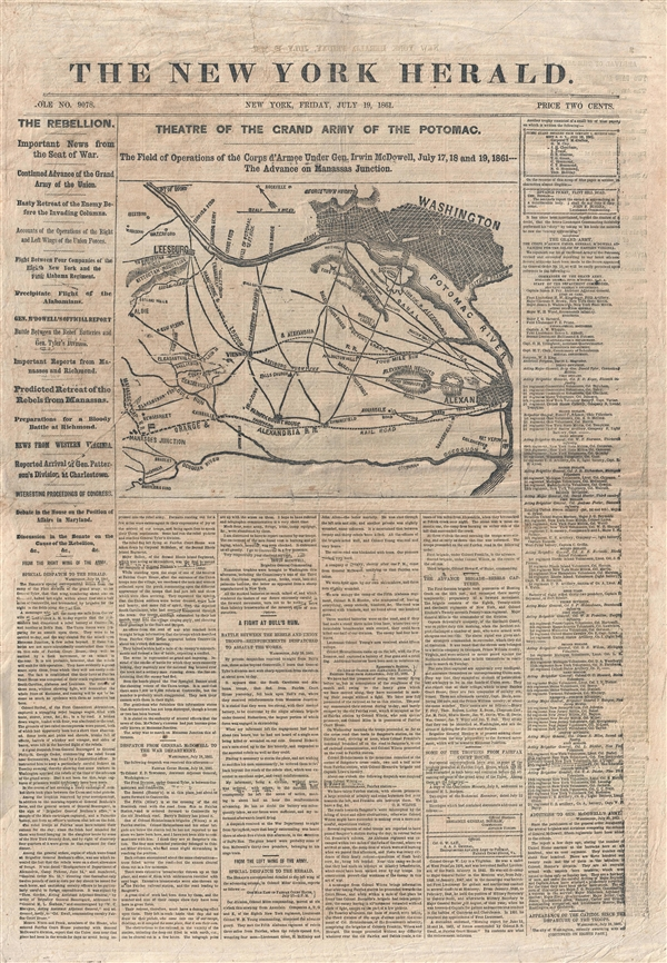 The New York Herald:  Theatre of the Grand Army of the Potomac.
