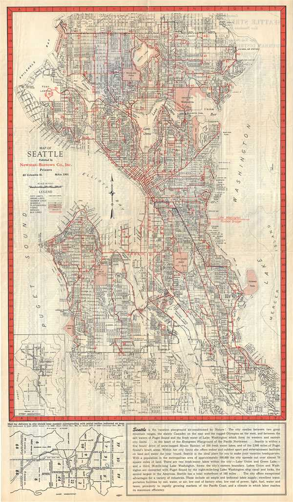 Map of Seattle.
