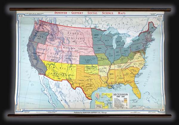 July 1 1860 map of the us