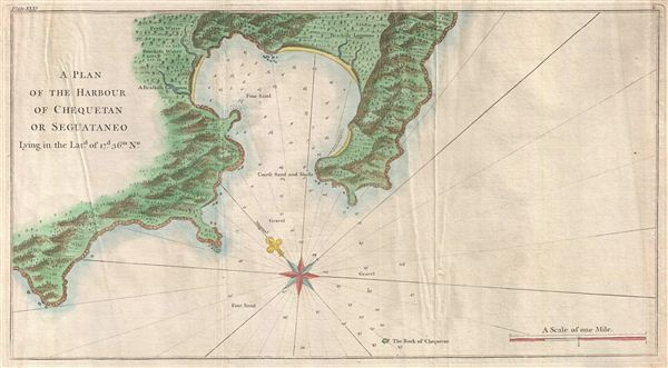 A Plan of the Harbour of Chequetan or Seguataneo Lying in the Lat.d of 17  d. 36 m. No. - Main View