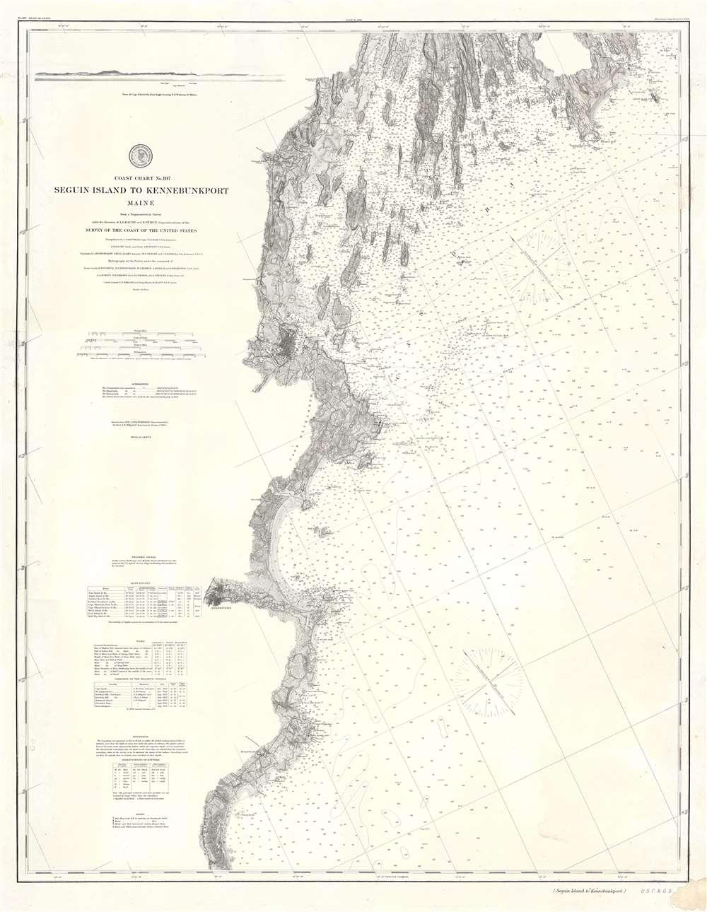 Coast Chart No. 107 Seguin Island to Kennebunkport Maine. - Main View