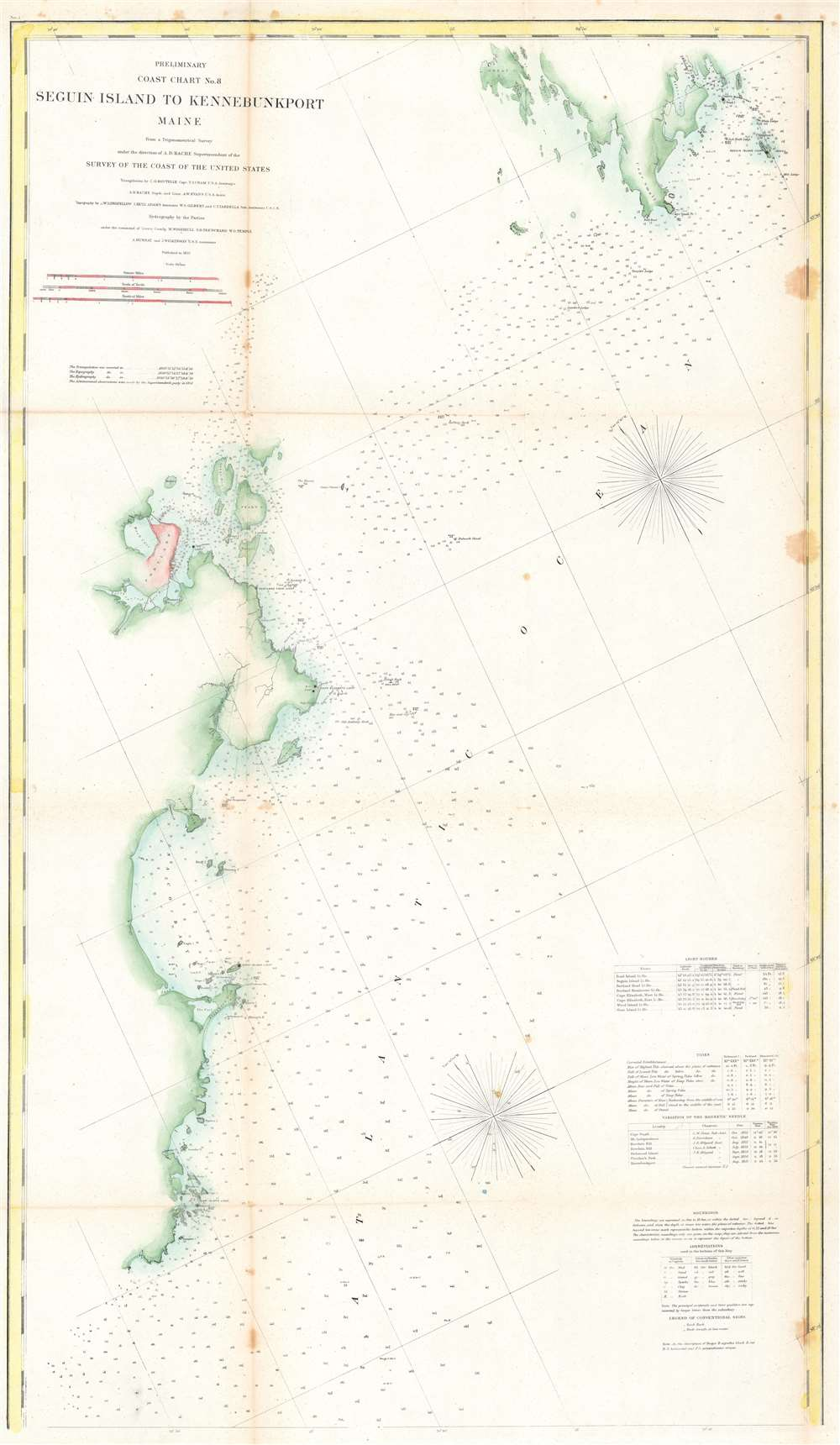 Preliminary Coast Chart No. 8 Seguin Island to Kennebunkport, Maine. - Main View