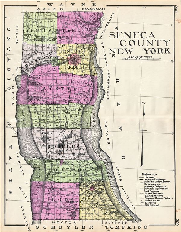 Seneca County New York. - Main View