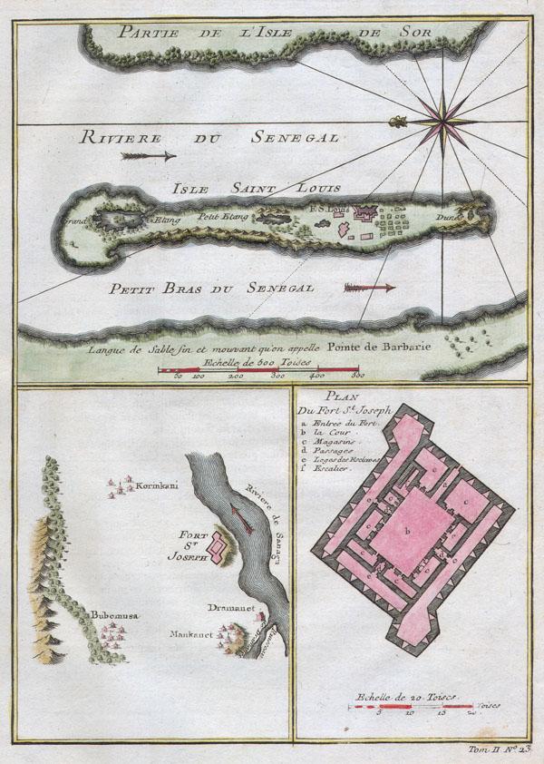 Riviere du Senegal / Isle Saint Louis / Petit Bras du Senegal / Plan du Fort St. Joseph.