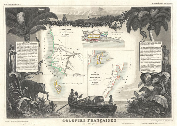 Colonies Francaises (en Afrique). - Main View