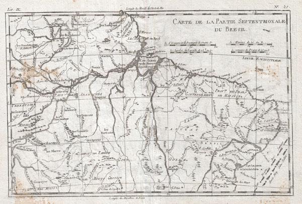 Carte De La Partie Septentrionale Du Bresil