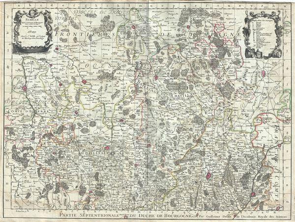 Partie Septentrionale du Duche de Bourgogne.