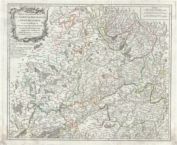 Partie Septentrionale du Comte de Bourgogne ou FrancheComte ou