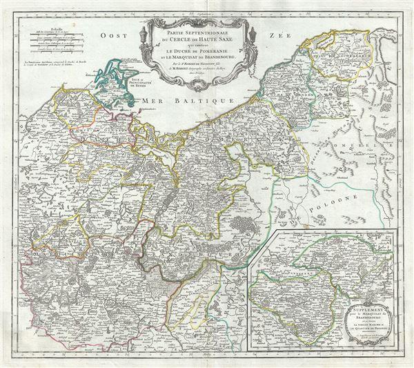 Partie Septentrionale du Cercle de Haute Saxe qui contient le Duche de Pomeranie et le Marquisat de Brandebourg.