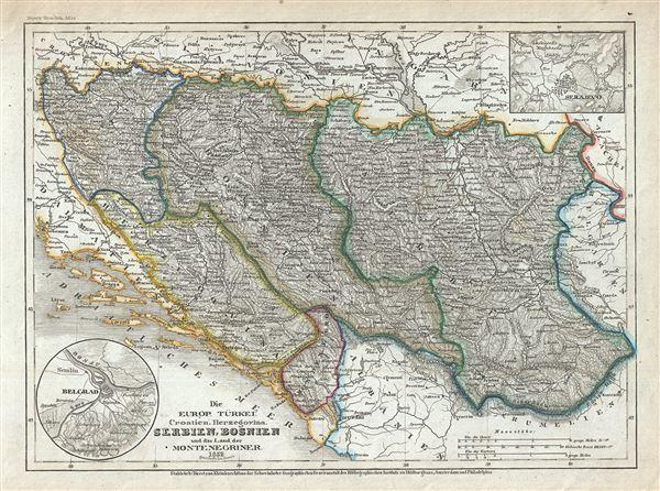 Die Europ. Turkei: Croatien Herzegovina, Serbien, Bosnien und das land der Montenegriner.