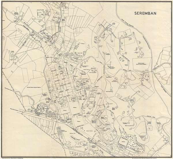 Seremban Geographicus Rare Antique Maps