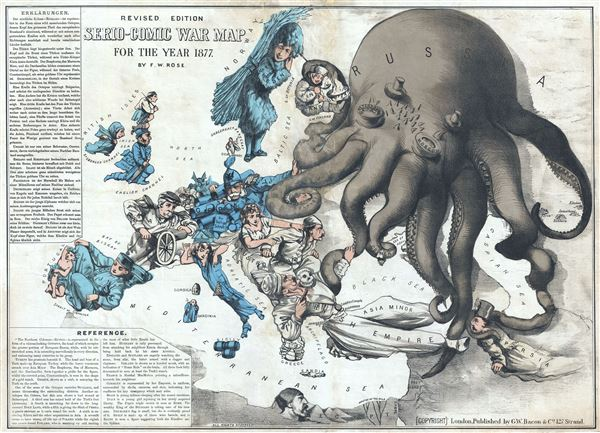 Revised Edition Serio-Comic War Map for the Year 1877. - Main View