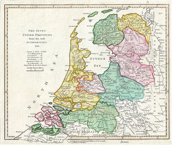 The Seven United Provinces from the best Authorities 1793.