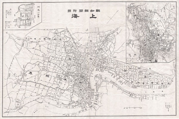 Map of Shanghai.