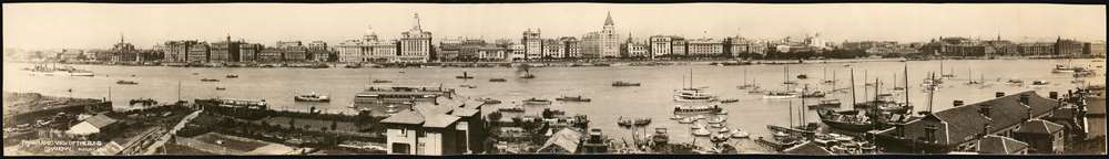 Panoramic View of the Bund Shanghai. August 1929.
