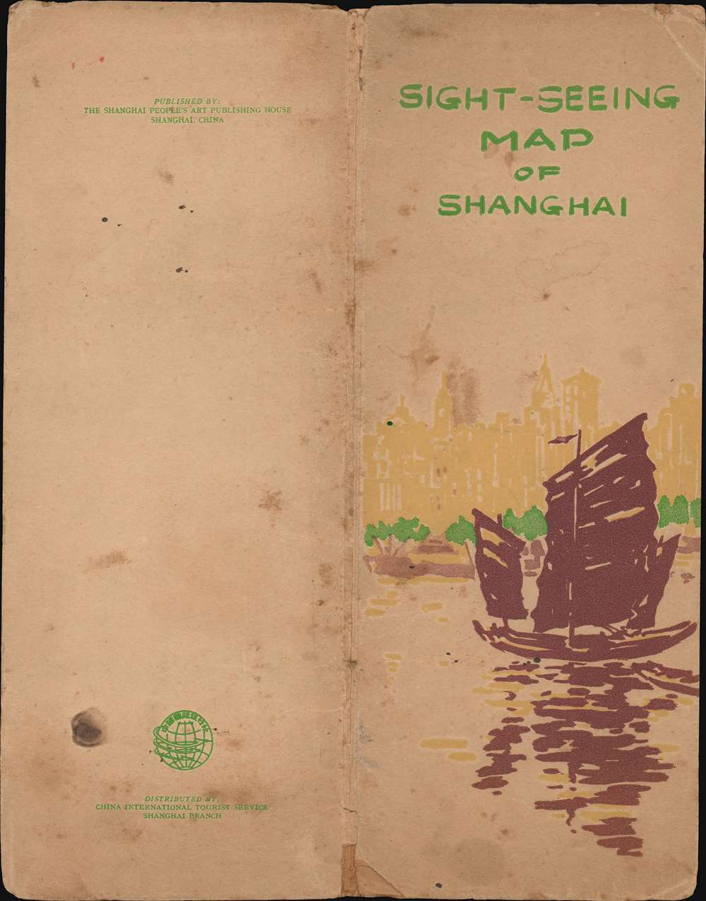 Sight-Seeing Map of Shanghai. - Alternate View 2