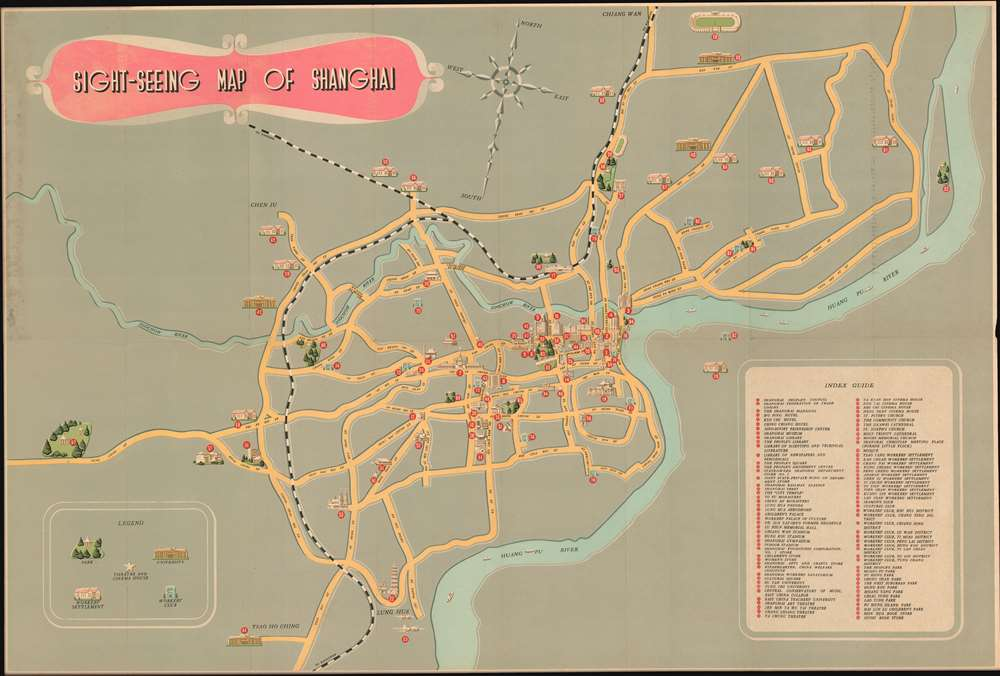 Sight-Seeing Map of Shanghai. - Main View