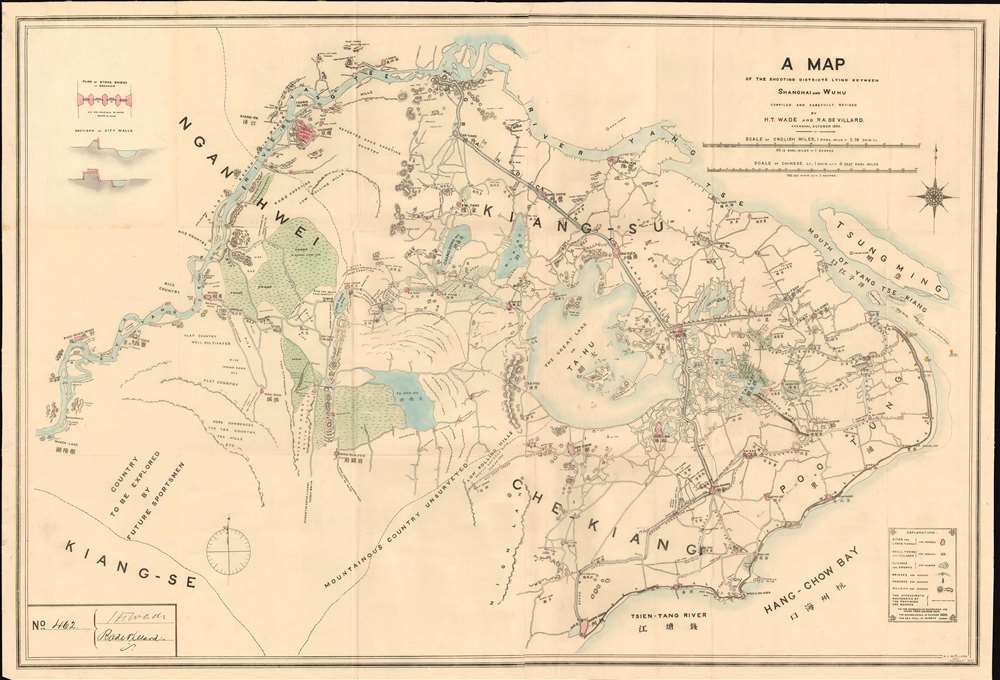 A Map of the Shooting Districts Lying Between Shanghai and Wuhu. - Main View