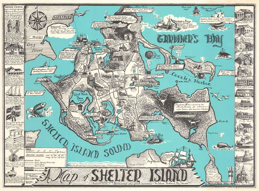A Map of Shelter Island. - Main View