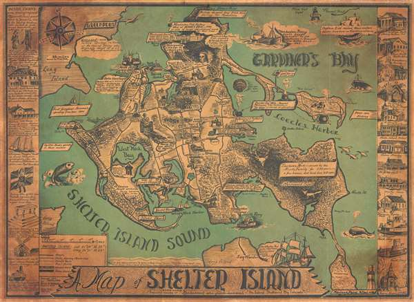 Shelter Island Map A Map of Shelter Island.: Geographicus Rare Antique Maps Shelter Island Map