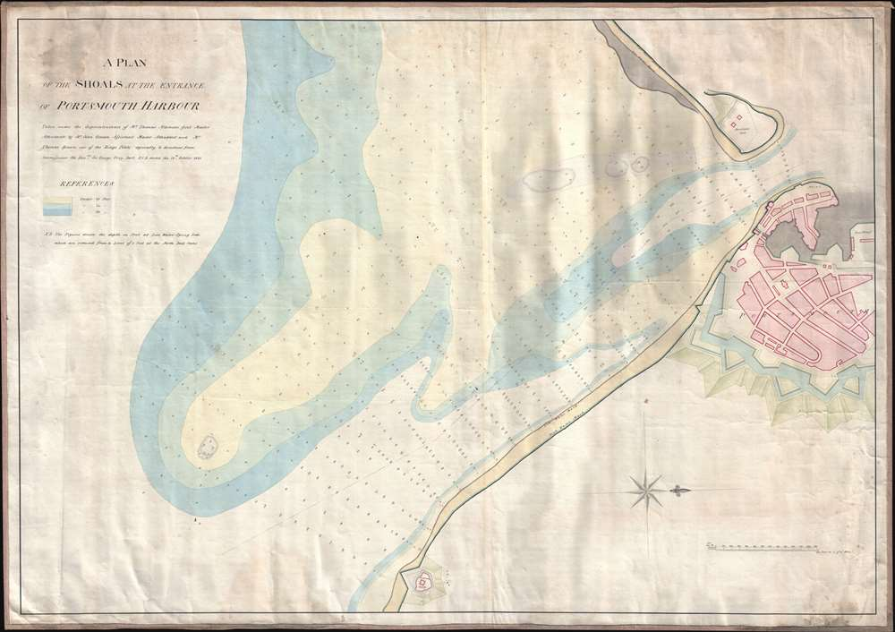 A Plan of the Shoals at the Entrance of Portsmouth Harbor.