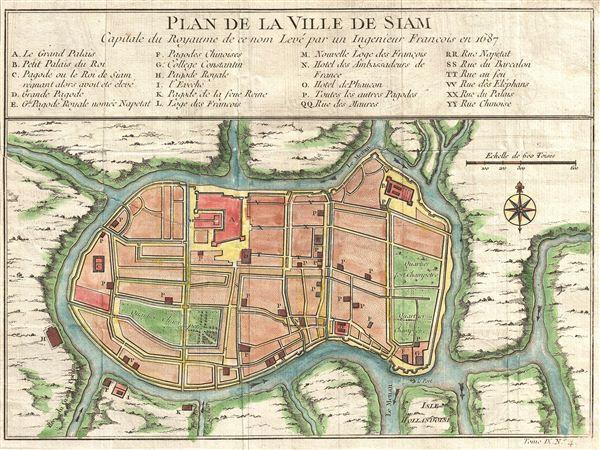 Plan de la Ville De Siam.
