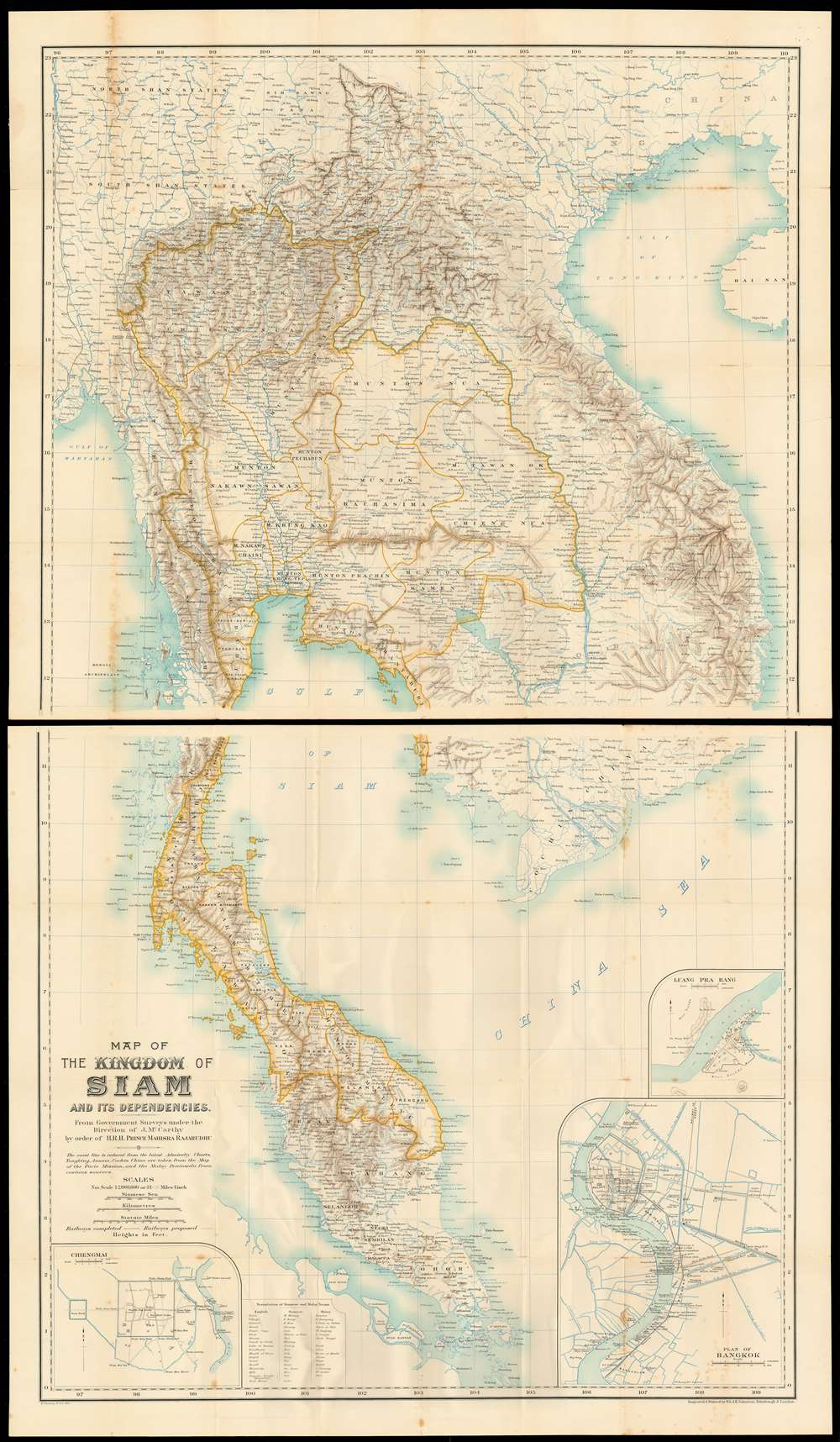 Map of the kingdom of Siam and its dependencies - Main View