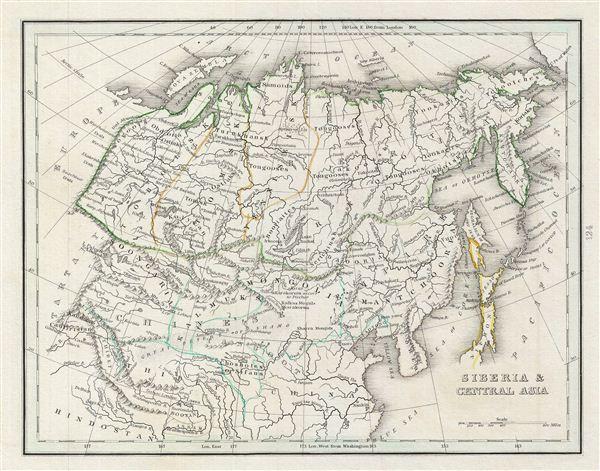 Siberia & Central Asia. - Main View