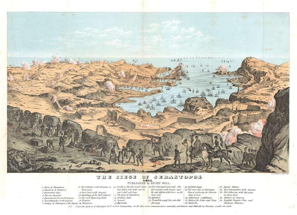 The Siege of Sebastopol. 1855. - Main View