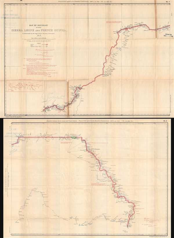 Map of Boundary between Sierra Leone and French Guinea, as demarcated by the Anglo-French Boundary Commission.