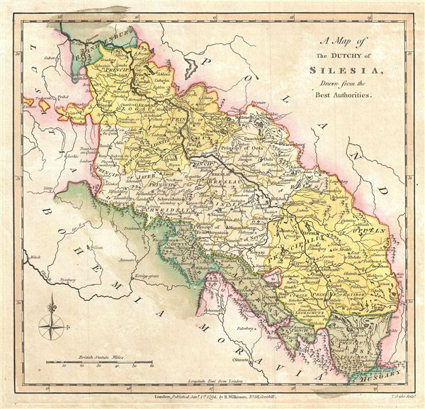 A Map of the Dutchy of Silesia, Drawn from the Best Authorities. - Main View