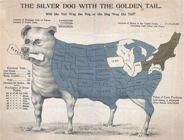 The Silver Dog withteh Golden Tail.  Will the Tail Wag th Dog, or the Dog Wag the Tail? - Main View