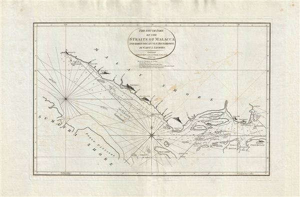 The South Part of the Straits of Malacca inscribed to Captn. G. G. Richardson, by Captn. J. Lindsey.